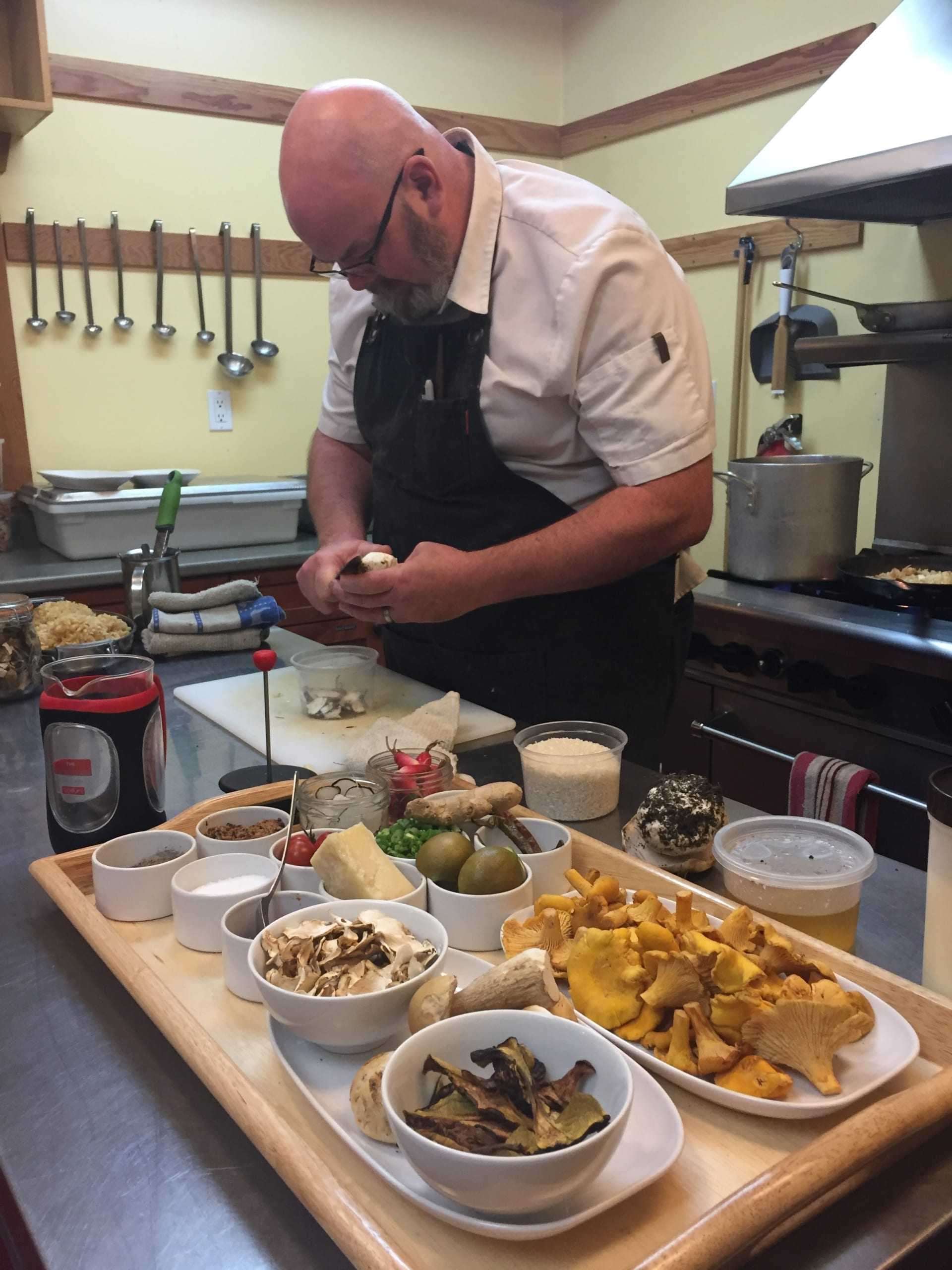Chef Ian Riddick Prepping